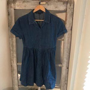 Jean button down summer dress